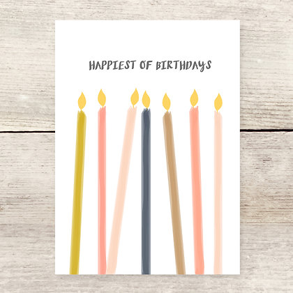 Happiest of Birthday Candles Greeting Card