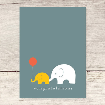 Congrats Elephants Greeting Card
