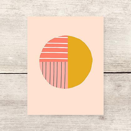 Blank Pattern Circle Greeting Card