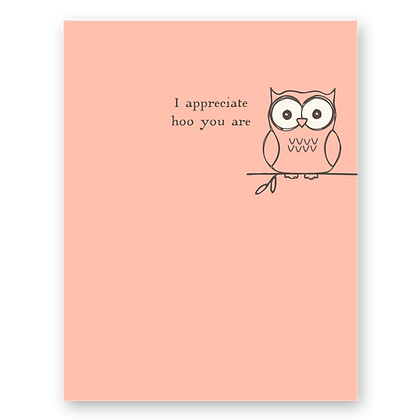 Hoo You Are Owl Greeting Card