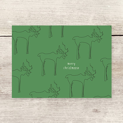 Moose Pattern Holiday Greeting Card