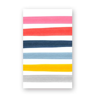 Blank Stripes mini card
