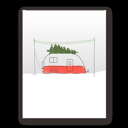 Christmas Camper Holiday Greeting Card