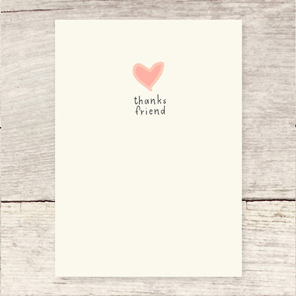 Thanks Friend Greeting Card