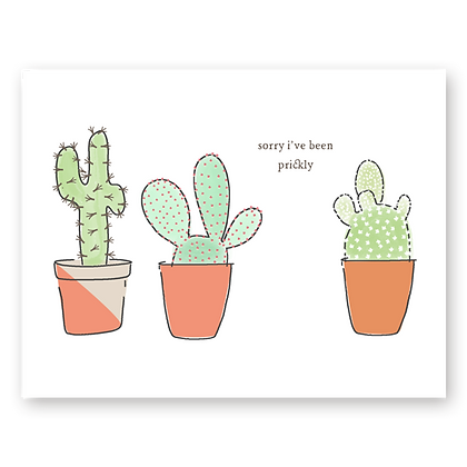 Sorry Prickly Greeting Card