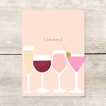 Cheers Drinks Greeting Card