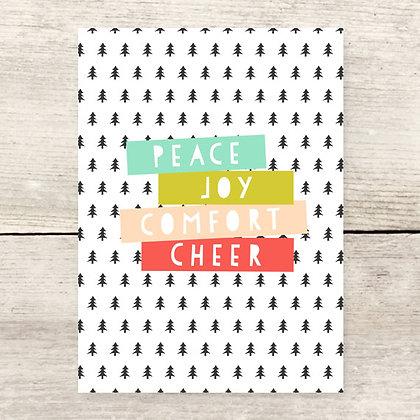 Peace Cheer Holiday Greeting Card