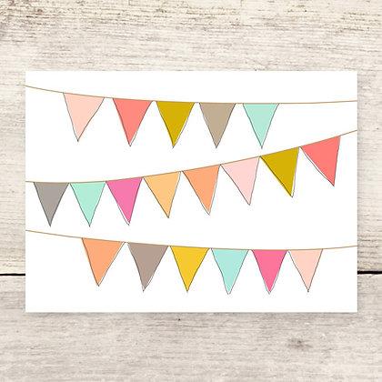 Pennants Blank Greeting Card