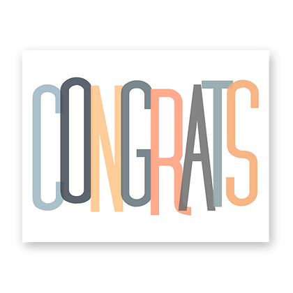 Congrats Oversized Greeting Card