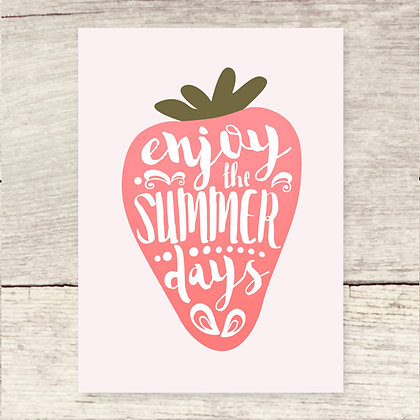 Summer Strawberry Greeting Card