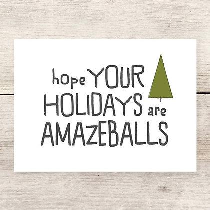 Amazeballs Holiday Greeting Card