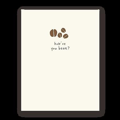 Bean Greeting Card