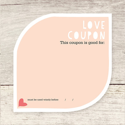 Love Coupon Note Card