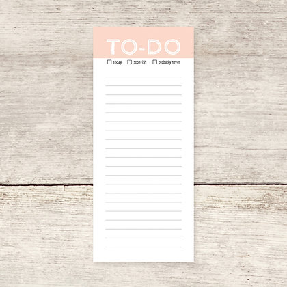 Pink To-Do Lined Notepad