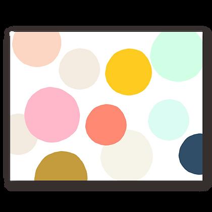 Large Dots Blank Greeting Card