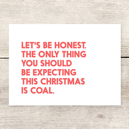 Coal Christmas Greeting Card