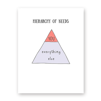 Hierarchy of Needs Greeting Card