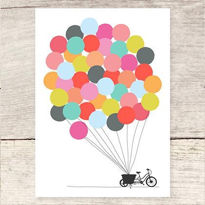 Bike + Balloons Greeting Card