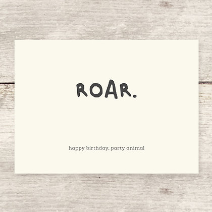 HBD Roar Party Animal Greeting Card