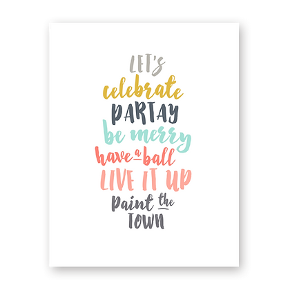 Let's Partay Greeting Card