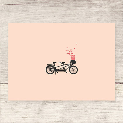 Bicycle for Two Greeting Card