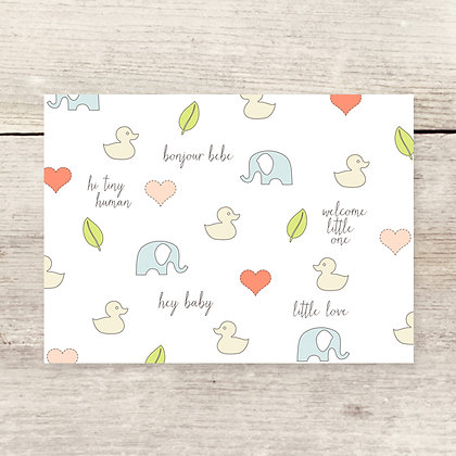 Baby Duckie Greeting Card