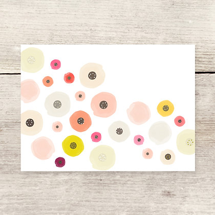 Blank Flowers Greeting Card