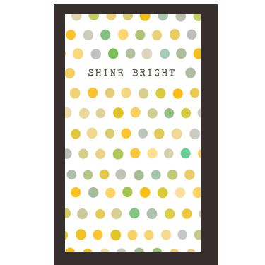 Shine Bright mini card