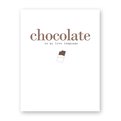 Chocolate Love Language Greeting Card