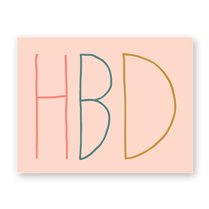 HBD Greeting Card