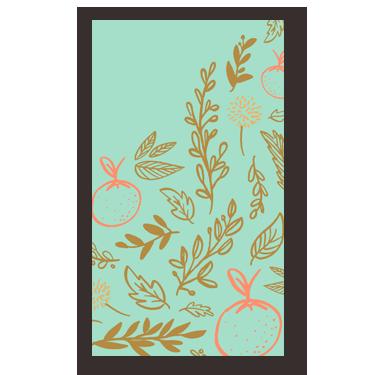 Fall Florals mini card