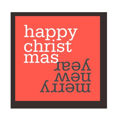 Happy Merry mini card