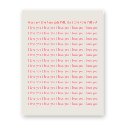Love Tank Greeting Card