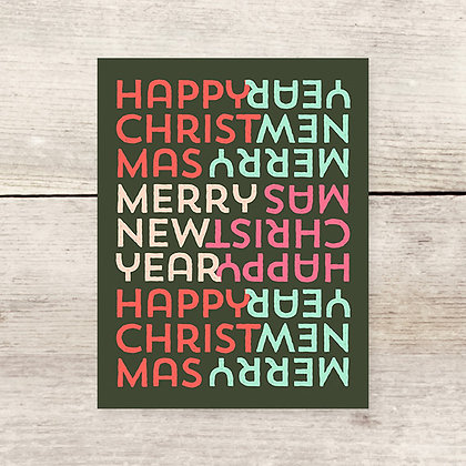 Happy Merry Holiday Greeting Card