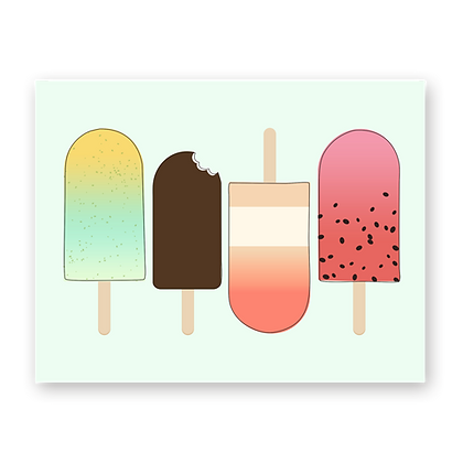 Popsicles Blank Greeting Card