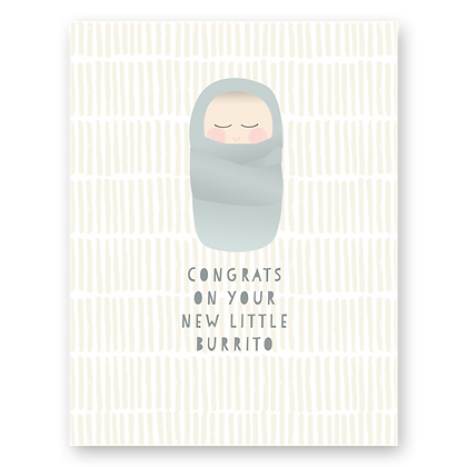 Baby Burrito Greeting Card