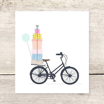 Bike + Gifts Greeting Card