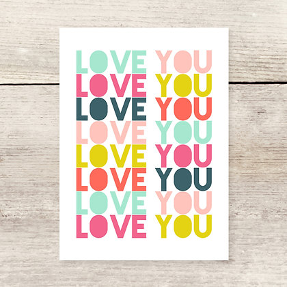 Love in Color Greeting Card