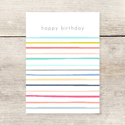 HBD Stripes Greeting Card