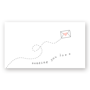 Sending Love mini card