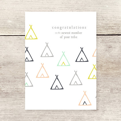 Congrats New Tribe Greeting Card