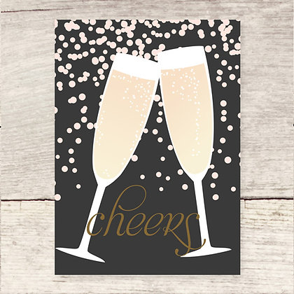 Cheers Champagne Greeting Card