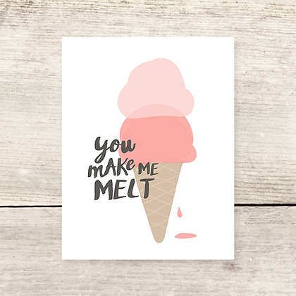 Melt Me Ice Cream Greeting Card