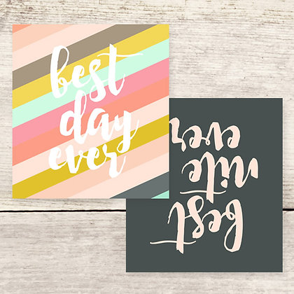Best Day Best Nite Ever Greeting Card