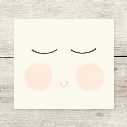 Boy Face Greeting Card