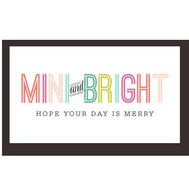 Mini Bright mini card
