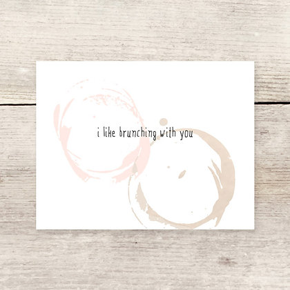 Brunching With You Greeting Card