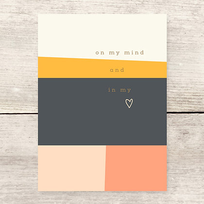 In My Heart Thinking of You Greeting Card