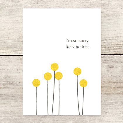Billy Buttons Loss Sympathy Card