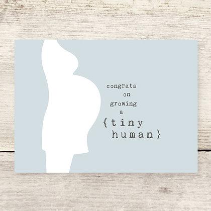 Congrats Tiny Human Greeting Card